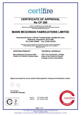 Certifire 280 Certificate