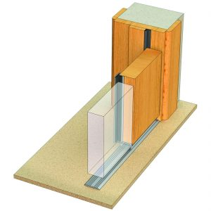 astragal ACS 7061 seal for meeting stile doors