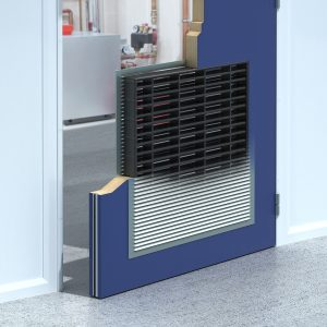 Pyyrogrille ventilation grille, 60 minute ventilation grille, intumescent fire grille, intumescent ventilation grille, ventilation grille for fire door,