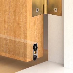 Threshold seal in door