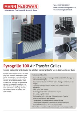 Pyrogrille 100 air transfer grilles