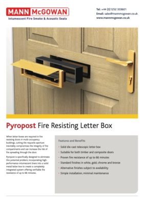 Pyropost Fire Resisting Letter Box