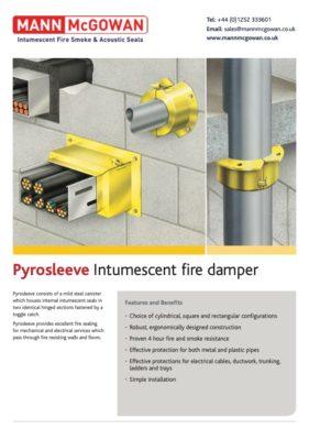 Pyrosleeve Intumescent fire damper