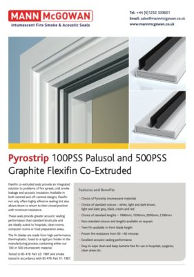 Pyrostrip 100PSS Palusol and 500PSS Graphite Flexifin Co-Extruded