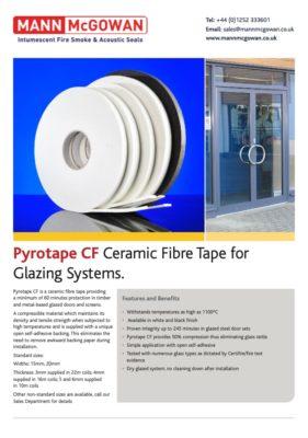 pyrotape cf : ceramic fibre tape for glazing systems